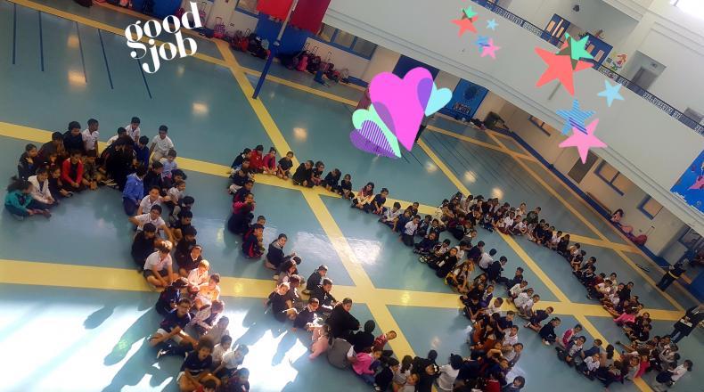 Voltaire fête le 100è jour d'école (Al Waab) :